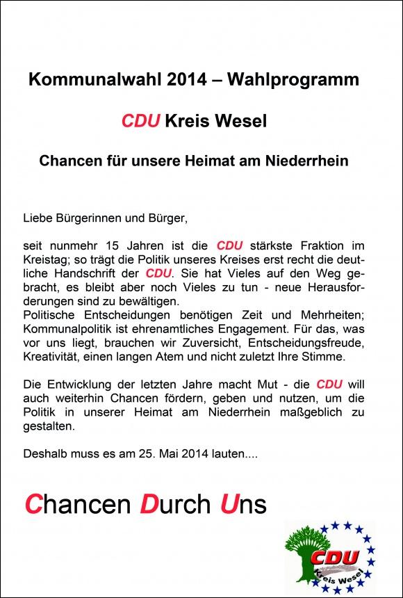 Thesenpapier zur Kreistagswahl 2014