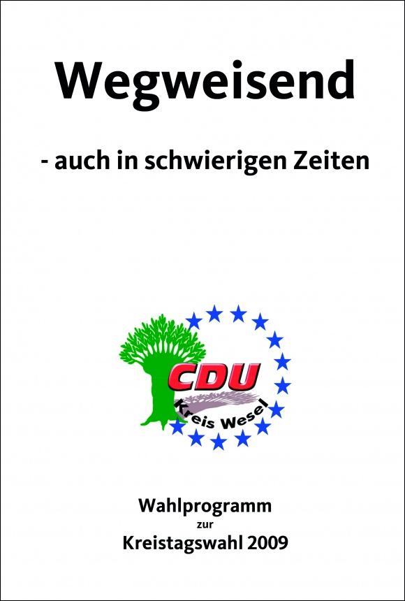 Wahlprogramm zur Kreistagswahl 2009